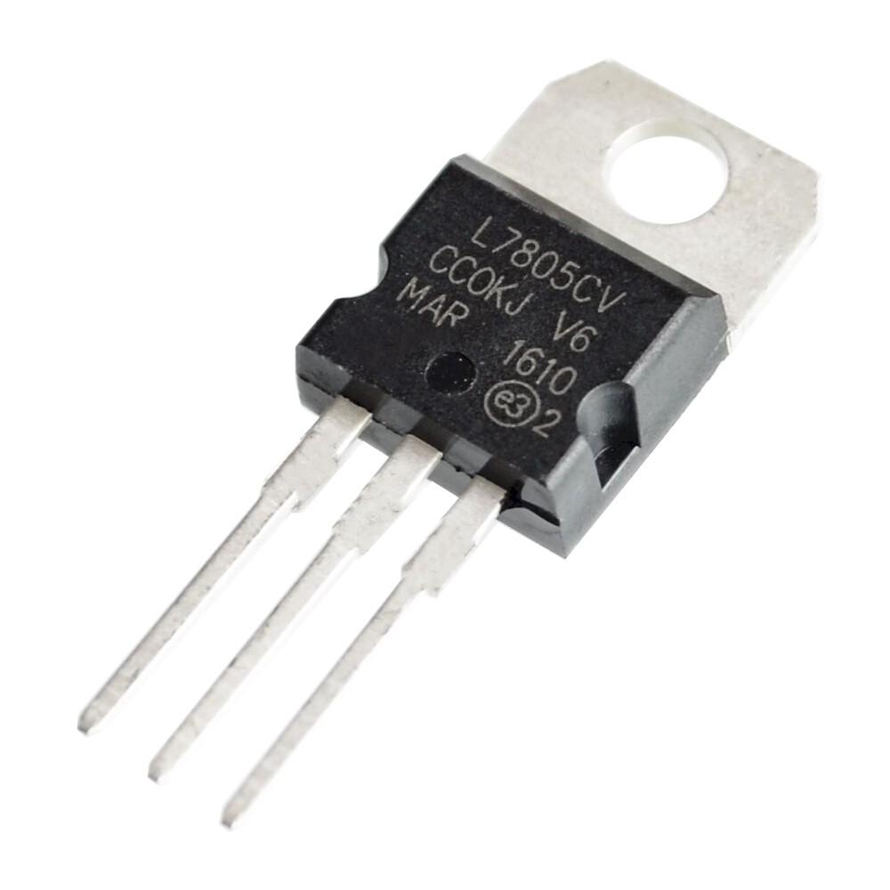 ไอซีเร็กกูเลเตอร์ ไอซีแปลงไฟ 5 โวลต์ 7805 Voltage Regulator IC 5V 1.5A TO-220