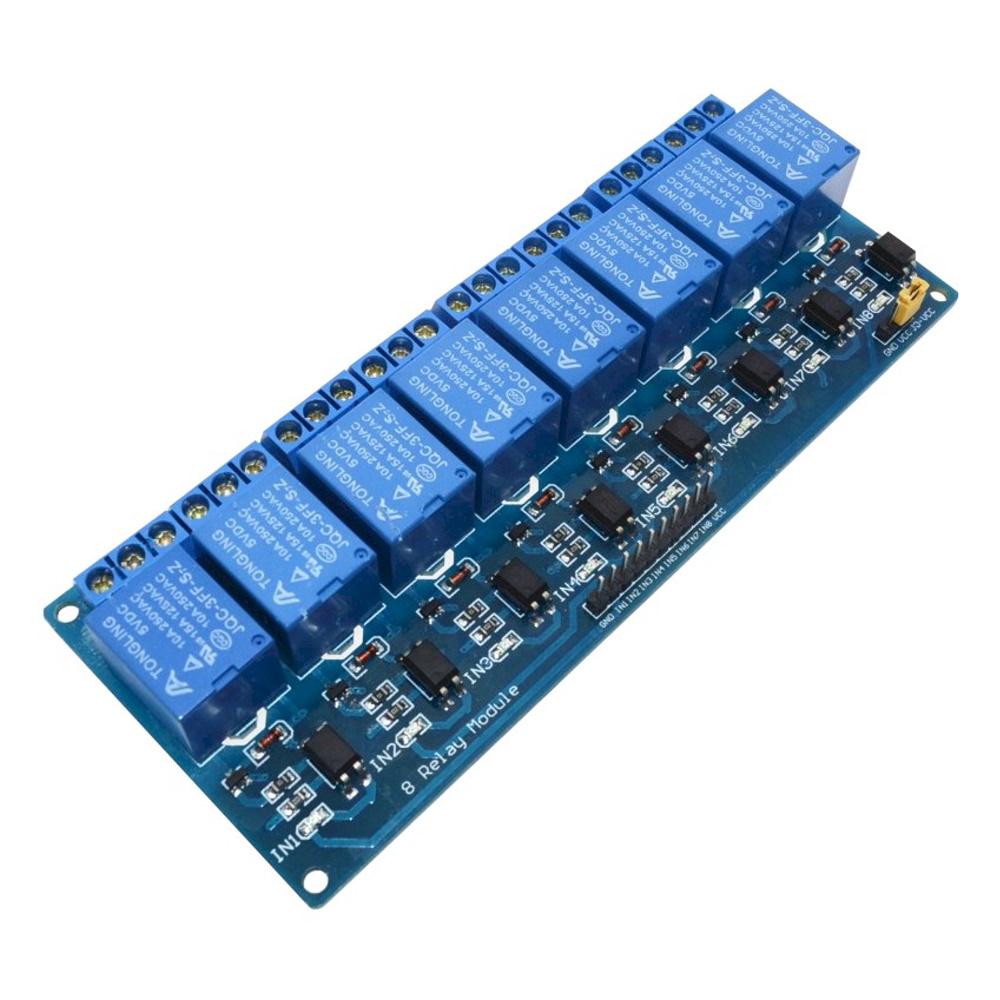 โมดูลรีเลย์ 5V 8 ช่อง Relay Module 5V 8 Channel 250V 10A Active Low