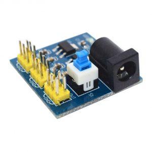 โมดูลแปลงไฟ 6.5-12V เป็น 5V และ 3.3V สำหรับทดลอง