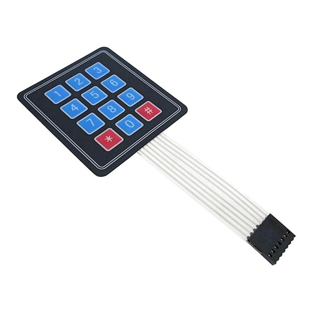 คีย์แพด เมมเบรนสวิตซ์ 3x4 Matrix Membrane Keypad Keyboard Module