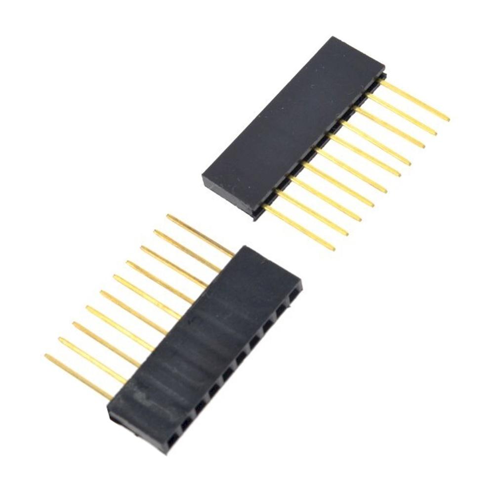 ก้างปลา Pin Header Connector Female 1x10 Pin 2.54mm Long Pin