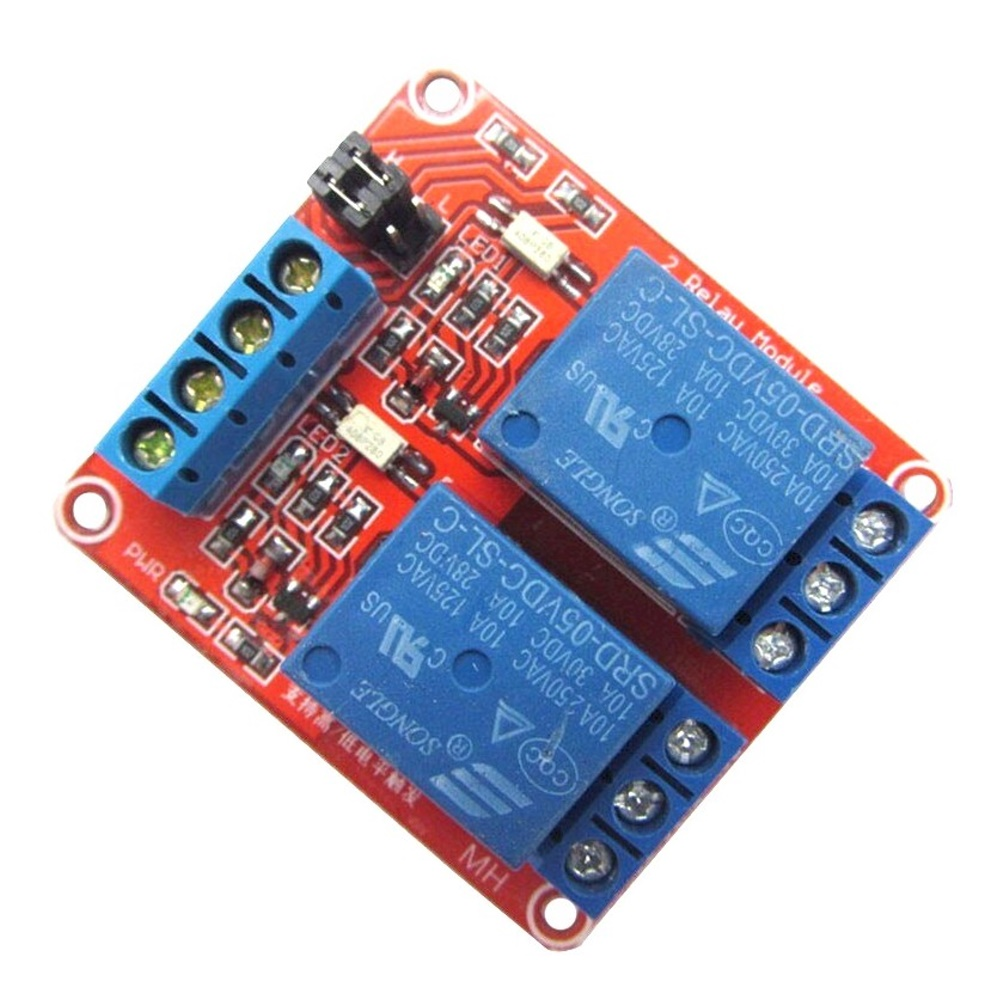 โมดูลรีเลย์ 5V 2 ช่อง Relay Module 2 Channel Isolation High and Low Trigger