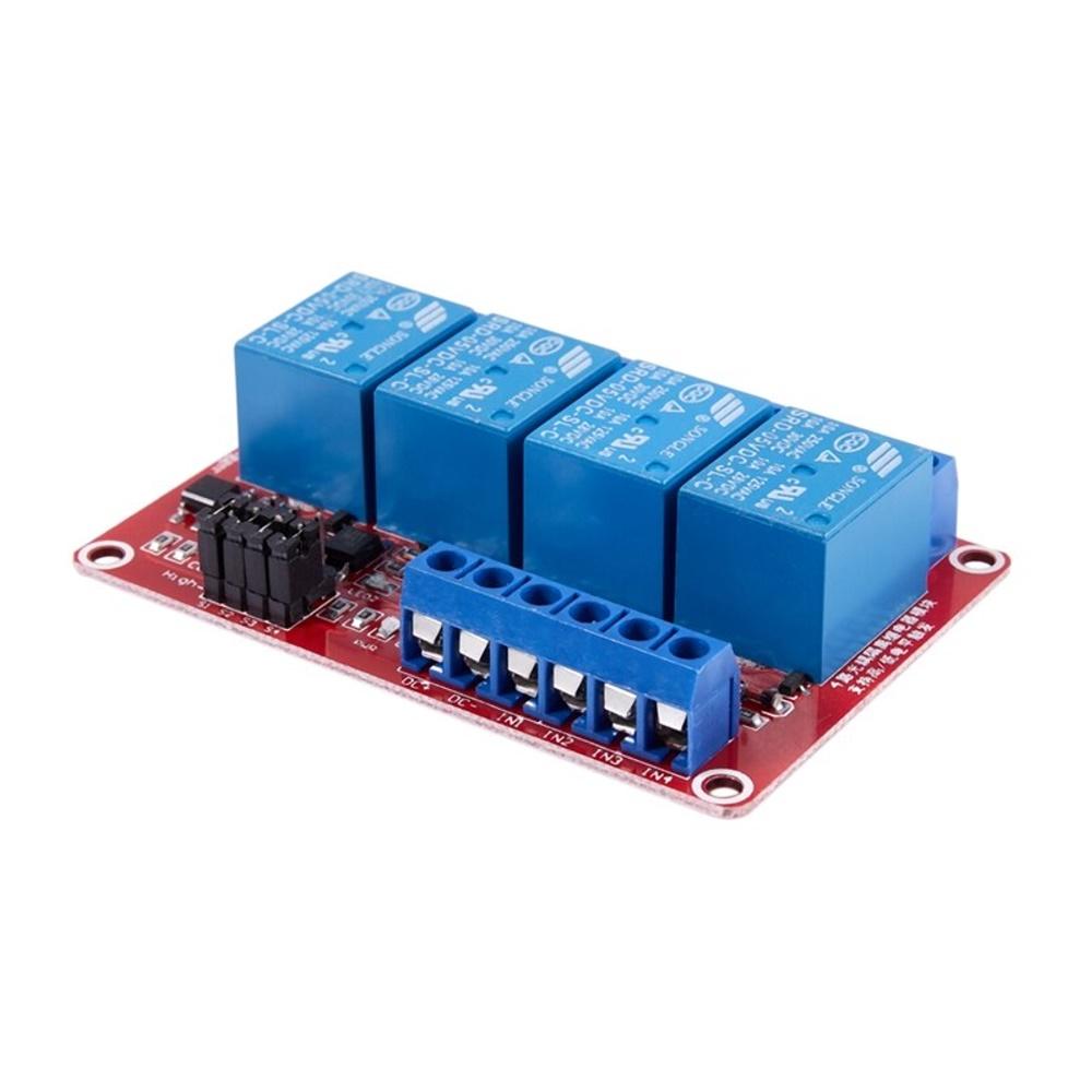 โมดูลรีเลย์ 5V 4 ช่อง Relay Module 4 Channel Isolation High and Low Trigger