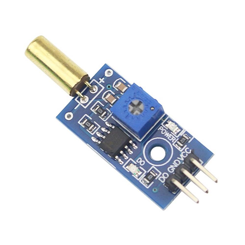 โมดูลวัดการเอียง SW-520D Metal Ball Tilt Switch Module