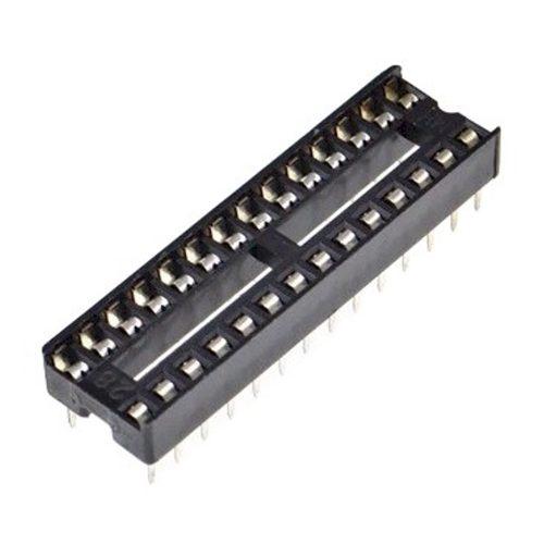 ไอซีซ็อกเก็ต 28 ขา 28 Pin 2.54mm DIP IC Sockets Solder Type